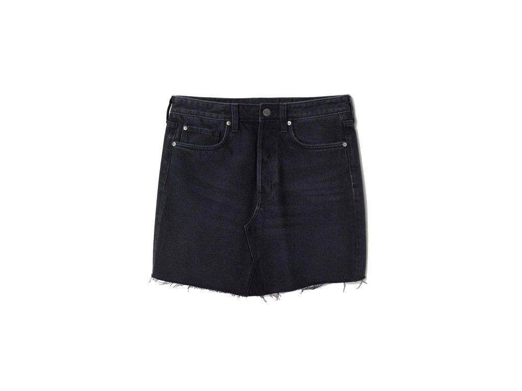 womens denim skirt black denim hm black skirts 1 upravit