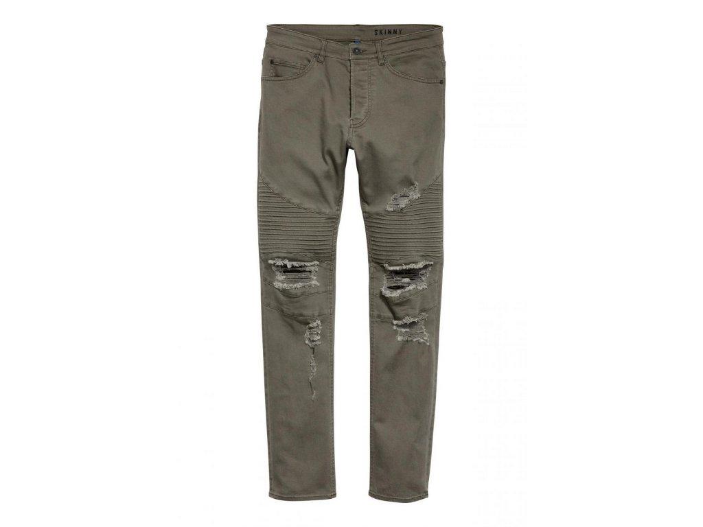 mens biker jeans dark khaki green hm green jeans
