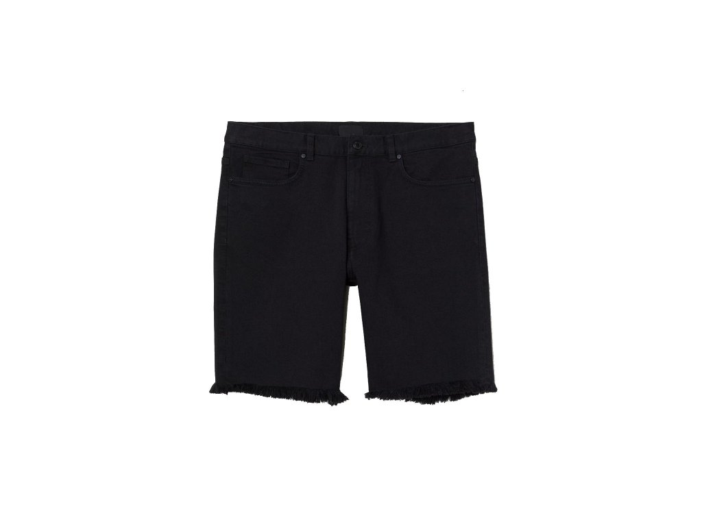 mens slim denim shorts black hm black shorts upravit