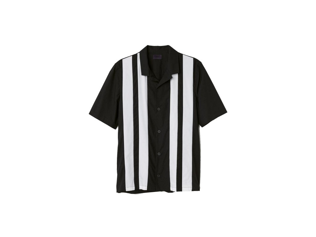 mens short sleeved shirt dark bluewhite striped hm white 004¨ upravit