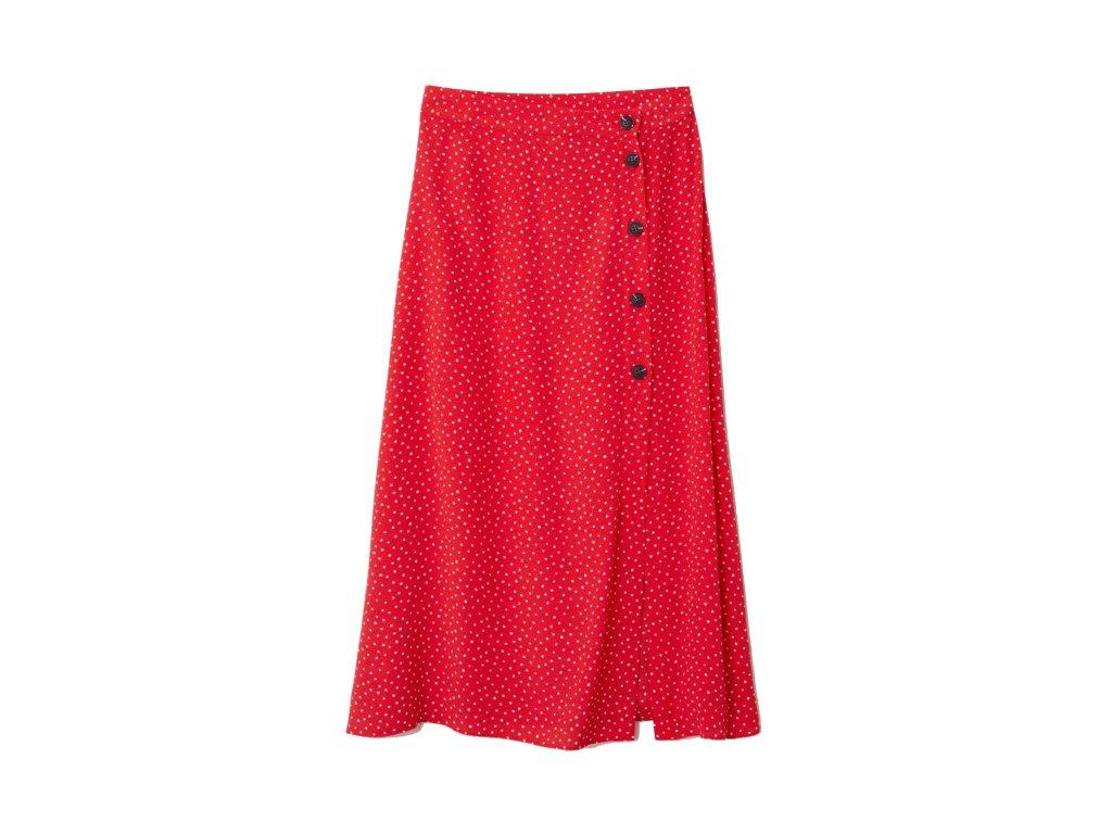 womens crc3aaped skirt redwhite dotted hm whitered skirts 4 upravene