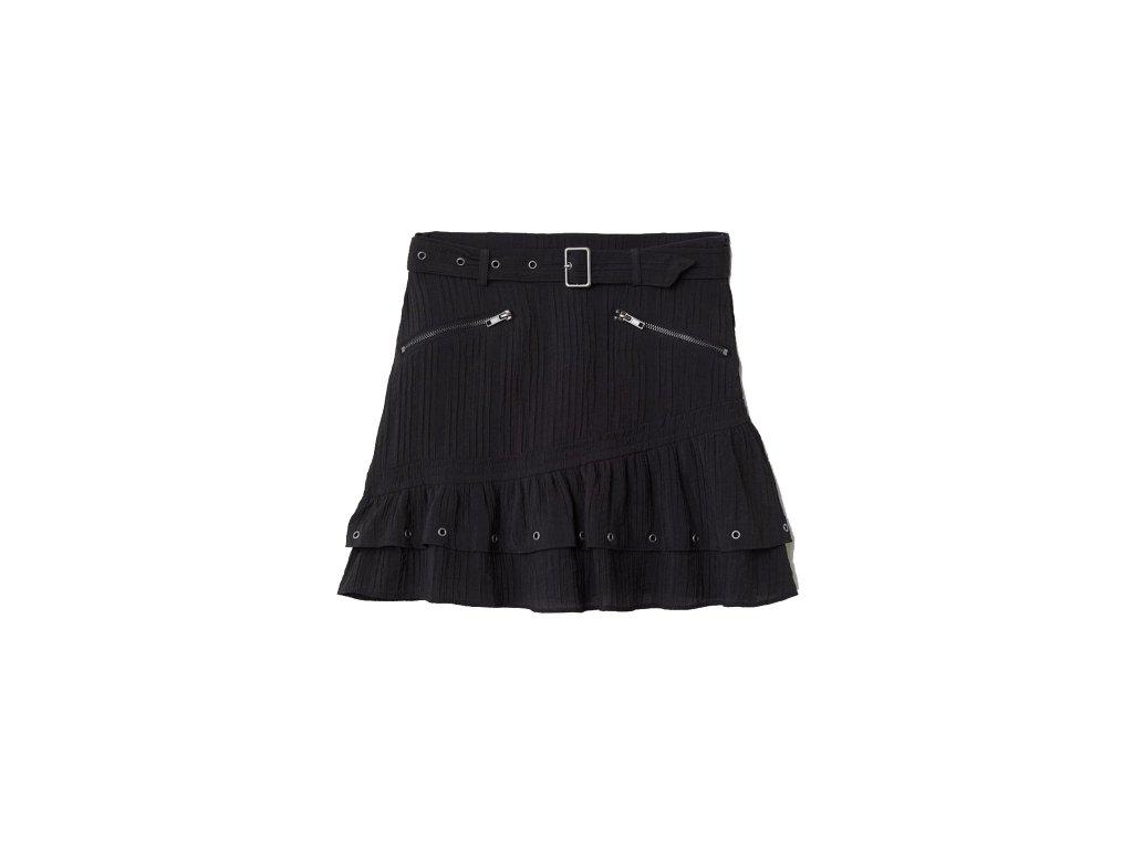 womens crinkled skirt with belt black hm black skirts 3 upravene