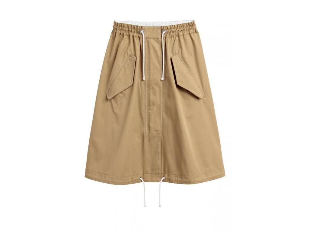 womens flared cotton skirt khaki beige hm beige skirts
