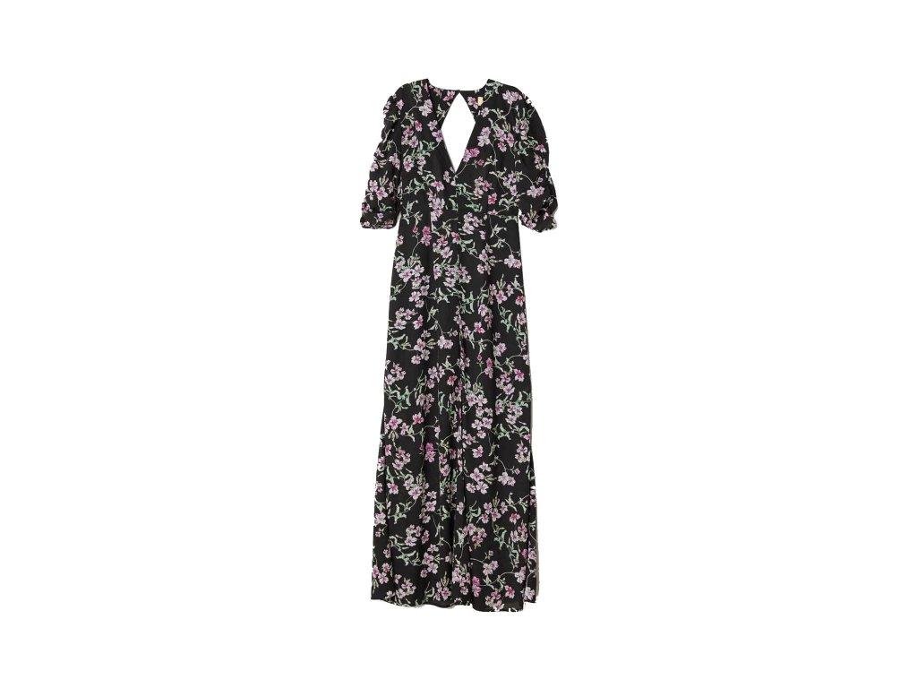 womens patterned long dress blackfloral hm black dresses 3 upravit