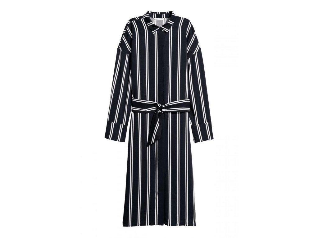 womens shirt dress dark bluewhite striped hm whiteblue d 002