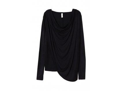 womens draped hooded top black hm black hoodies sweatshirts upravit
