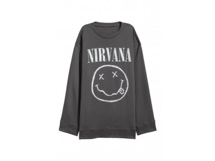 womens oversized sweatshirt dark graynirvana hm grey hoodies