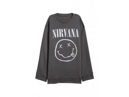 womens oversized sweatshirt dark graynirvana hm grey hoodies