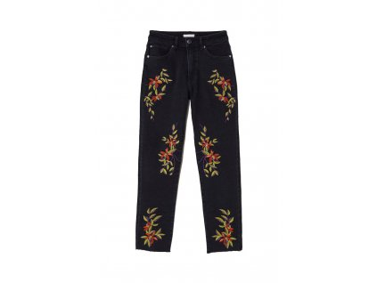 womens jeans with embroidery blackembroidery hm black je 003 upravene
