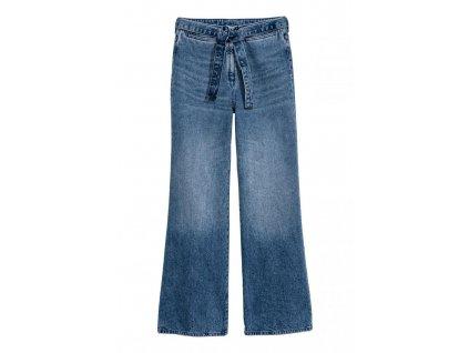 womens wide high waist jeans denim blue hm blue jeans 1