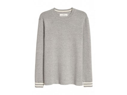 mens fine knit sweater gray melange hm grey sweaters car 002