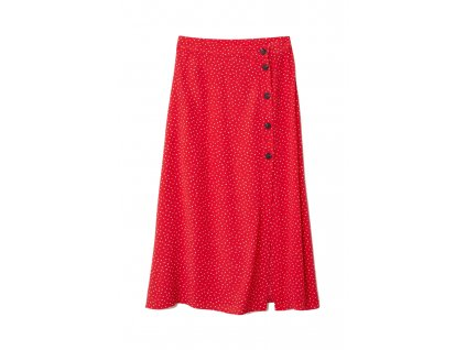 womens crc3aaped skirt redwhite dotted hm whitered skirts 4 upravene