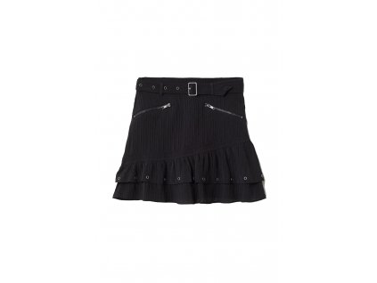 womens crinkled skirt with belt black hm black skirts 3 upravene