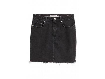 womens denim skirt black denim hm black skirts