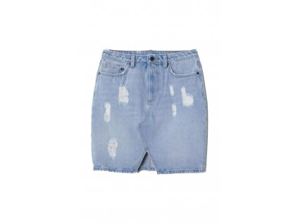 womens denim skirt light denim blue hm blue skirts upraveno