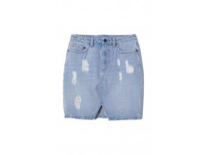 womens denim skirt light denim blue hm blue skirts upraveno
