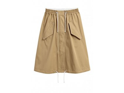 womens flared cotton skirt khaki beige hm beige skirts