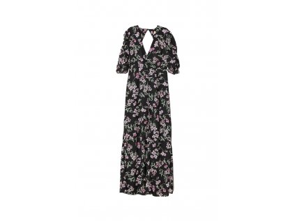 womens patterned long dress blackfloral hm black dresses 3 upravit