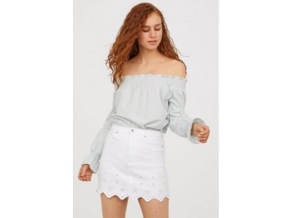 womens scalloped denim skirt white denim hm white skirts 2