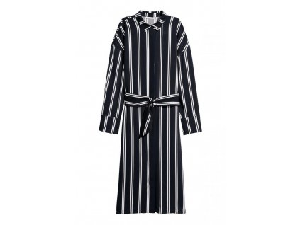 womens shirt dress dark bluewhite striped hm whiteblue d 002