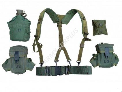 Taktický nosný systém ALICE US LC-2 (treky,sumka M16,lékárnička,čutora 1qt,obal,opasek,Nexus) oliv originál