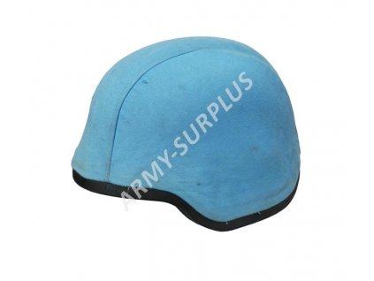 Potah (povlak) na kevlarovou helmu (přilbu) UNPROFOR OSN originál světle modrá s gumovým černým okrajem
