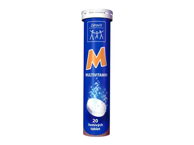 Zdrovit Multivitamin šumivé tablety s příchutí pomeranče 20 tbl.