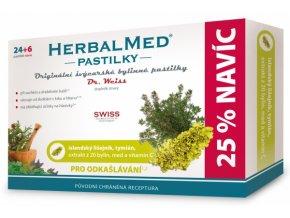 HerbalMed pastilky Dr. Weiss pro odkašlávání 24 pastilek + 6 pastilek ZDARMA