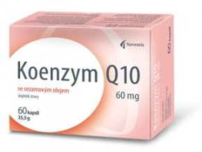 Noventis Koenzym Q10 60mg se sezamovým olejem 60 kapslí