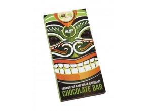 Lifefood Bio Živá čokoláda s konopným semínkem Raw 70 g