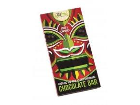 Lifefood Bio Živá čokoláda s ořechy a třešněmi Raw 70 g