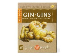 Ginger People GIN GINS Hot Coffee zázvorové žvýkací bonbóny horká káva 42 g