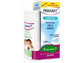 Omega Pharma Paranit Sensitive Lotion 150 ml + šampon 100 ml ZDARMA + hřeben