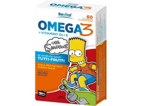 The Simpsons Omega 3 + vitaminy D3 a E 60 kapslí
