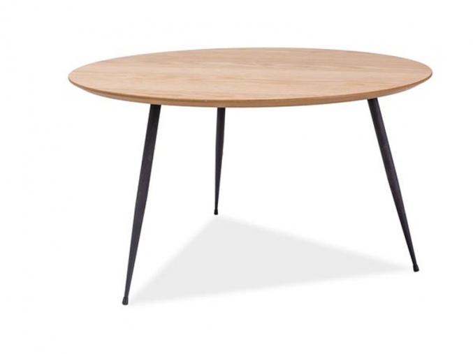 moderny okruhly konferencny stolik LUCCA A dub cierny