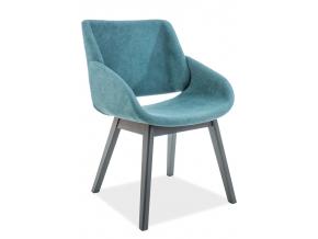 Jedálenská stolička NEST  tyrkysová