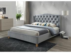 Manželská posteľ ASPEN VELVET Sivá