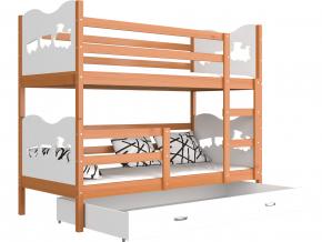 detska poschodova postel MAX jelsa biela
