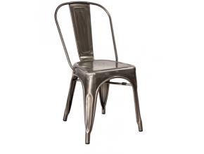 Jedálenská stolička LOFT / brúsený kov