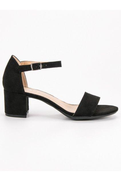 Čierne sandále na podpätku Filippo