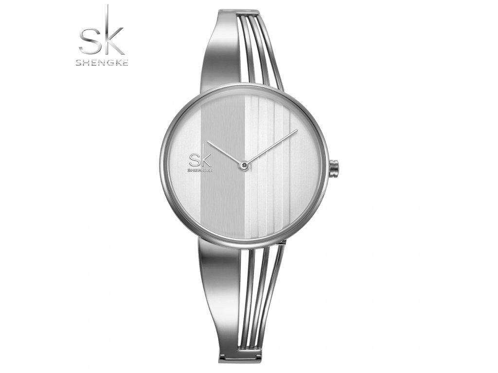 SK Shengke hodinky Nadčasová elegance K0062_L01_SILVER