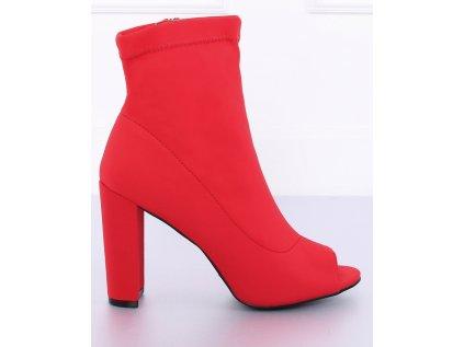 Inello boty na podpatku MM-127097 červená