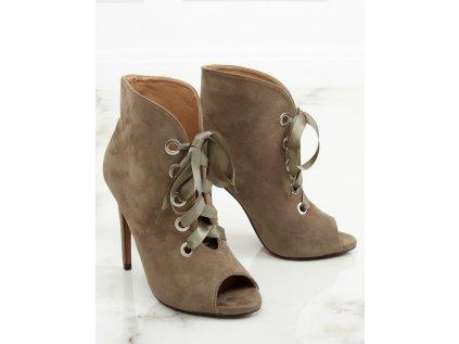 Inello boty na podpatku MM-127981 zelená