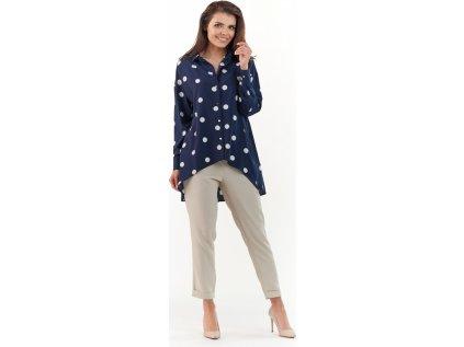 awama dámská košile MM-117537 modrá