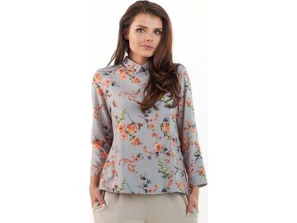 awama dámská košile MM-117539 šedá