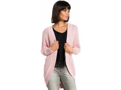 BE Knit svetr na zapínání MM-121205 růžová