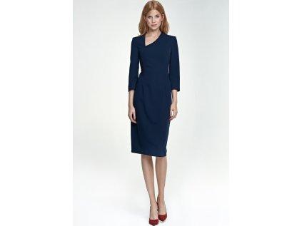 Nife koktejlové šaty MM-66356 modrá