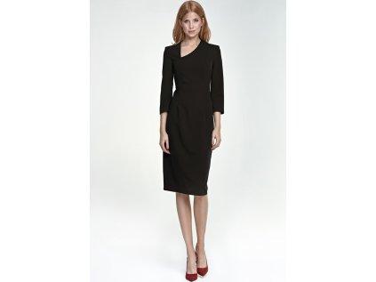 Nife koktejlové šaty MM-66358 černá