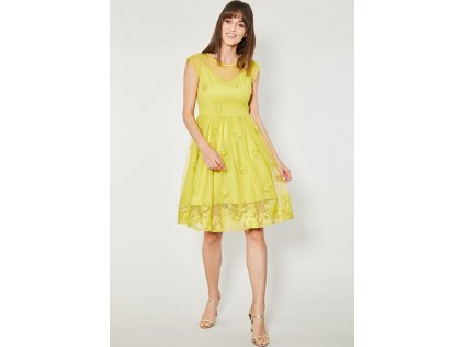 Click Fashion společenské šaty MM-132503 žlutá